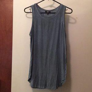 Paige denim M jersey cotton tank blue/grey